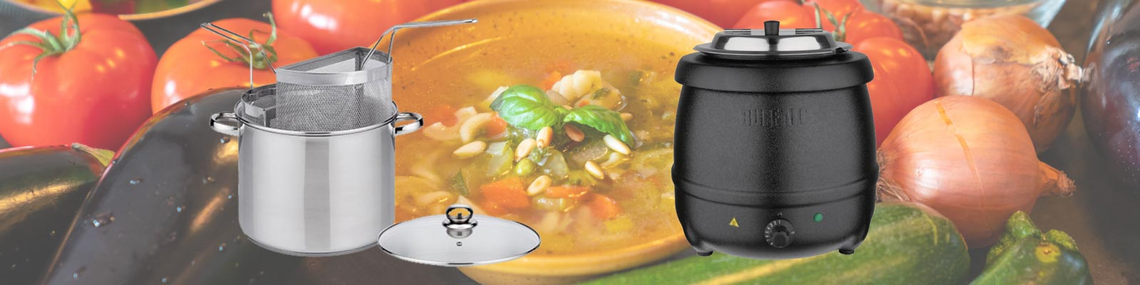 Banner pasta curry soep